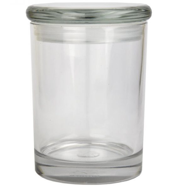 Smell proof 1/2 ounce stash jar plain clear