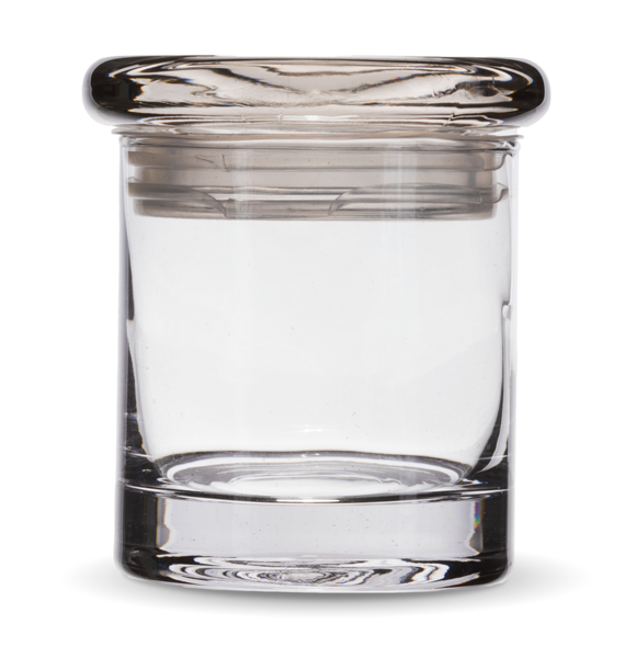 Smell proof 1/4 ounce stash jar plain clear