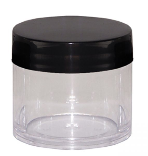 30ML Polystyrene Containers – Black Lid