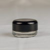 5ML Child Resistant Clear Glass Concentrate Container with Matte Black Lid