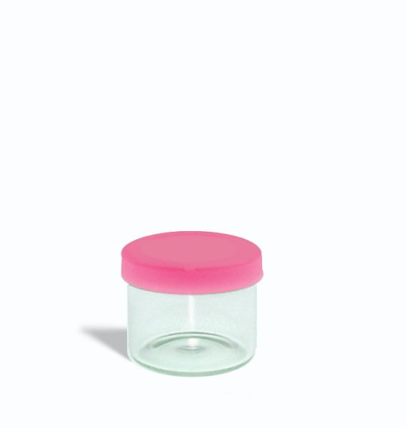 6ml glass containers for 1 gram with pink lids