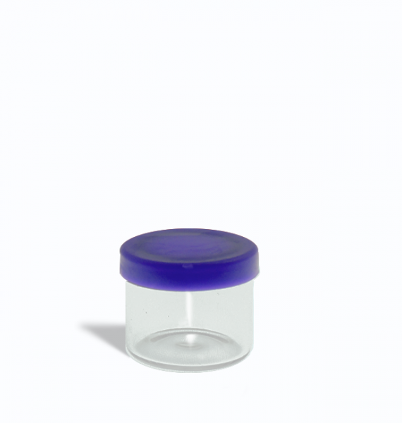6ml glass containers for 1 gram with purple lids