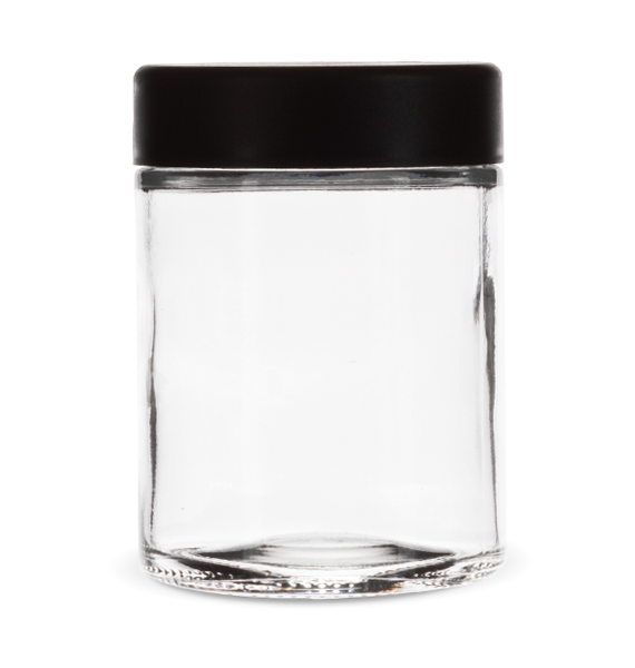 4 Oz Child Resistant Jar with Black Lid
