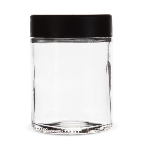 4 Oz Child Resistant Jar with Black Lid