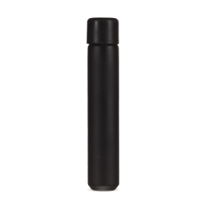 116mm Glass Pre-Roll tube with Round Black Child Resistant Lid - Matte Black