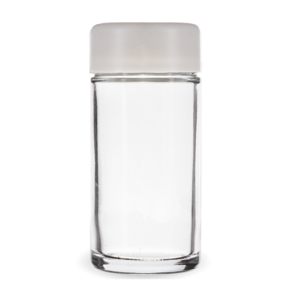 Child Resistant Jar with White Lid for 1/4th Oz
