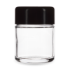 Child Resistant Jar with Black Lid for 1/8th Oz