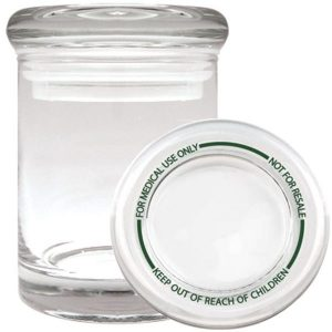 Smell proof 1/8 ounce stash jar clear with best practices lid