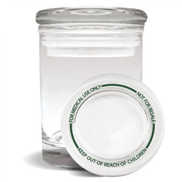 Smell proof 1/4 ounce stash jar with best practices lid