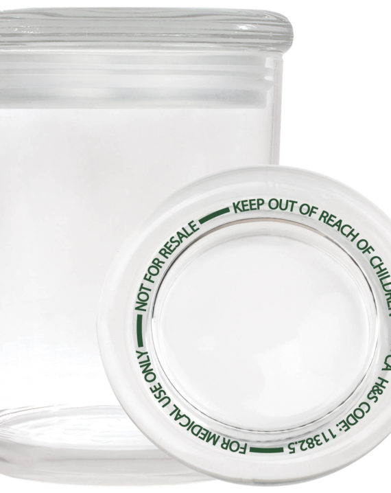 Smell proof 1 ounce stash jar with best practices lid