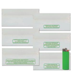 Glossy White/Clear CA Code 1 PreRoll Bags