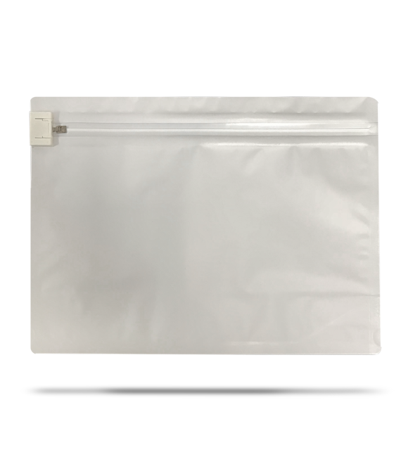 cannaline medium 6 x 8 matte white child resistant re usable exit bags