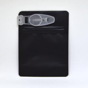 Smell proof Child Resistant Clip Bag for 1/8 ounce, matte black