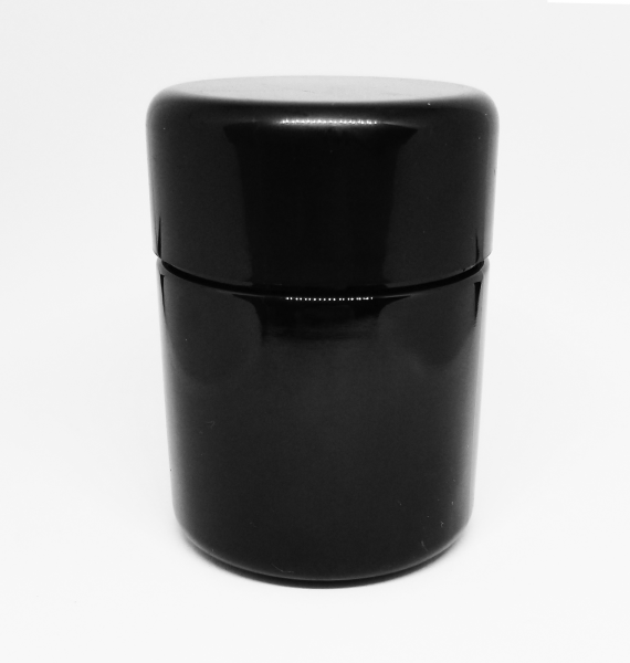 Child Resistant Solid Black Jar with Black Lid for 1/8th Oz