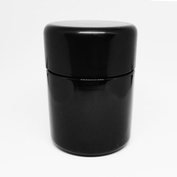 child-resistant-solid-black-jar-with-black-lid-for-1-8th-oz
