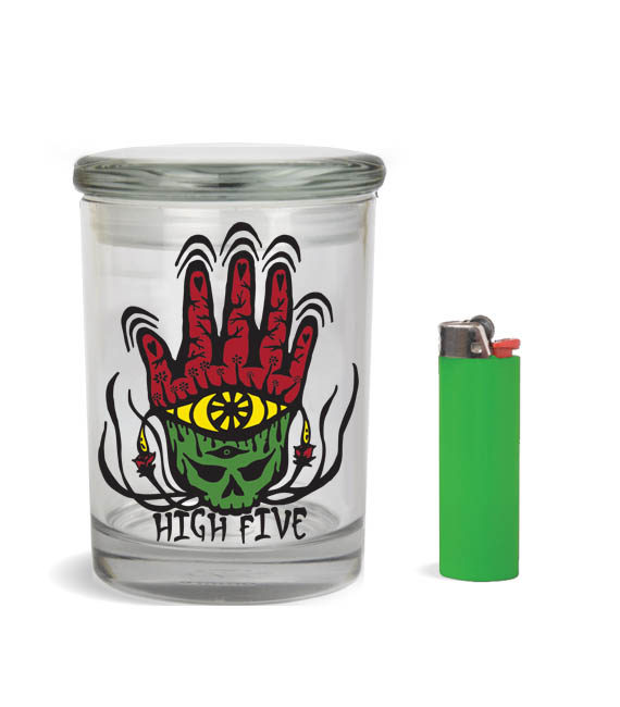 high 5 stash jar for 1-2 ounce