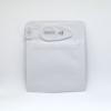Smell proof Child Resistant Clip Bag for 1 gram, solid matte white