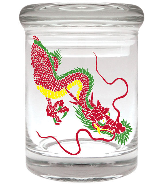 Rasta Dragon Stash Jar 1/8th ounce