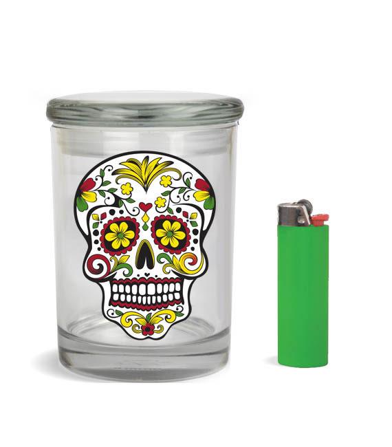 skull stash jar for 1-2 ounce 1