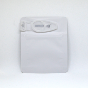 Smell proof Child Resistant Clip Bag for 1 gram, matte white/clear