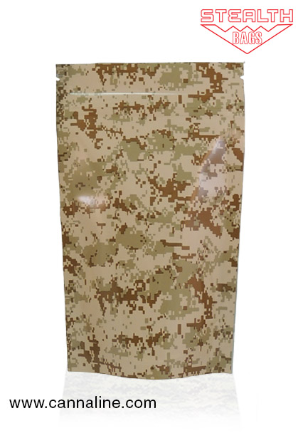 Stealth Bag Tan Camo print – Large 5 Pack