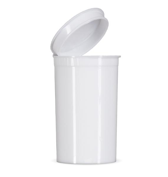 19 Dram Child Resistant Pop Top - White