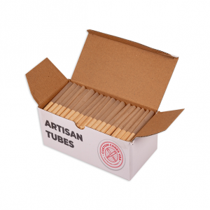 1/2 Gram (84mm) Artisan Style Cone - Spiral Tips - Unrefined Brown