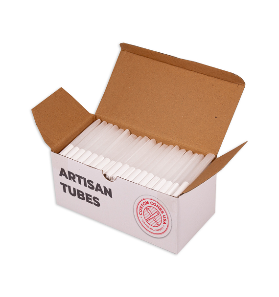1/2 Gram (84mm) Artisan Style Cone - Spiral Tips - Refined White