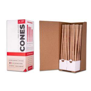 3/4 Gram (98mm) Reefer Style Cones - Unrefined Brown