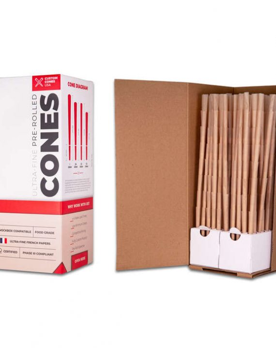 3/4 Gram (98mm) Reefer Style Cones - Unrefined Brown