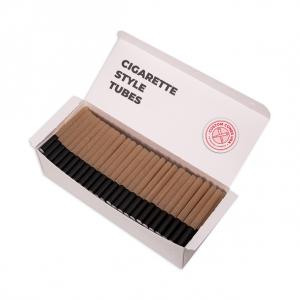 1/2 Gram (84mm) Cigarette Style Cones - High Flow Filter, Brown Hemp Paper, Black Tip