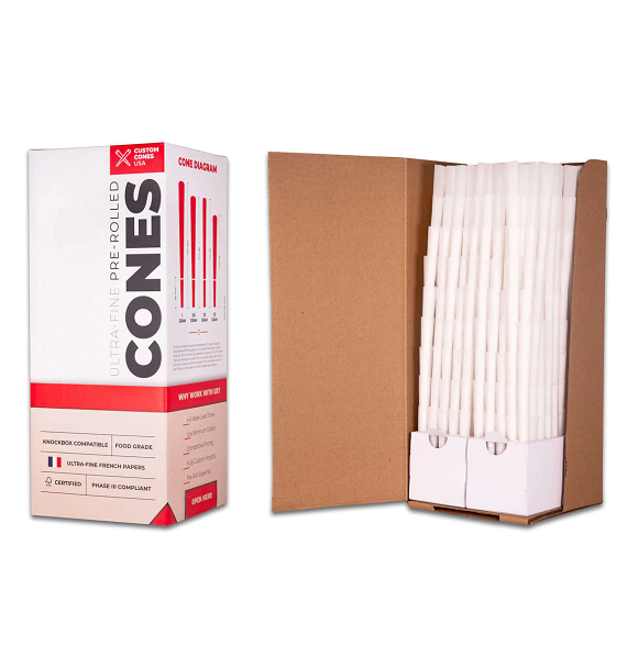 1/2 Gram (84mm) Pre-Rolled Cones - Refined White