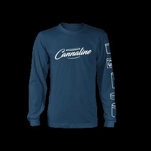 Cannaline Long Sleeve Tee - Blue