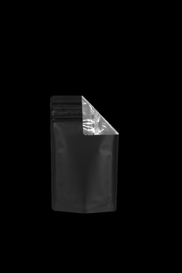 Cannaline's 1/4 Oz Black & Clear child resistant smell proof EZ-Open mlyar bag