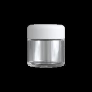 2 Oz C-Class CR Jar with Matte White Lid