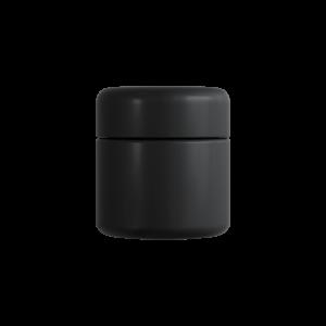 2 Oz Matte Black C-Class CR Jar with Matte Black Lid