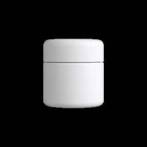 2 Oz Matte White C-Class CR Jar with Matte White Lid
