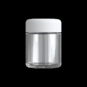 3 Oz C-Class CR Jar with Matte White Lid