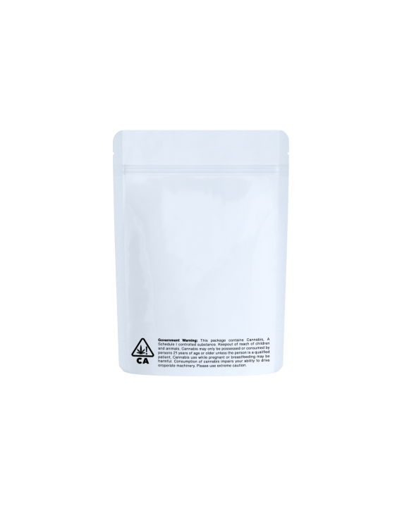 White/clear CA code bags for 1/8 oz