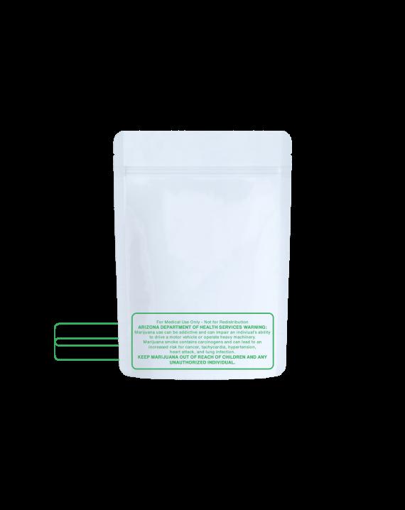 White/clear AZ code bags for 1/8 oz