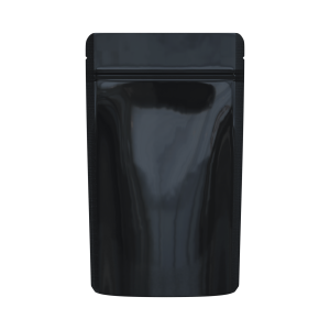 Glossy black/clear bags for 1/2 oz