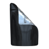 Folded Glossy black/clear bags for 1 oz
