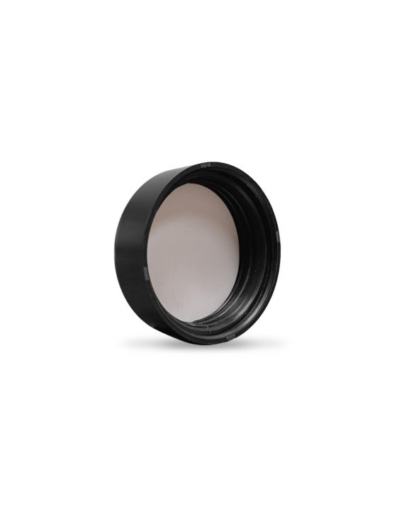 Cannaline's 9ML child resistant matte black push and turn lid