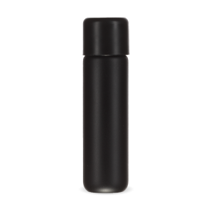 Cannaline's 81mm Matte Black Glass Pre-Roll Tubes With a black child resistant screw on lid