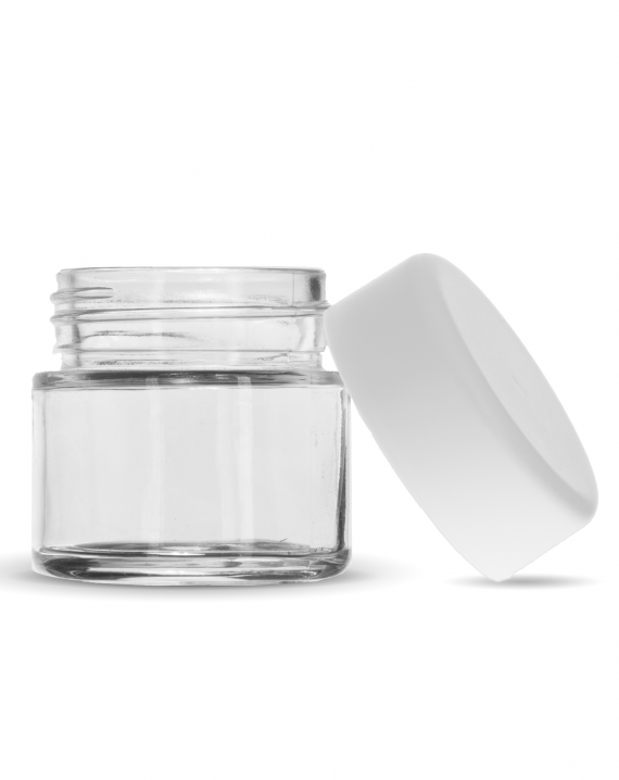 2 Oz C-Class CR Jar with Matte White Lid