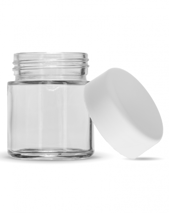 3 Oz C-Class CR Jar with Matte White Lid
