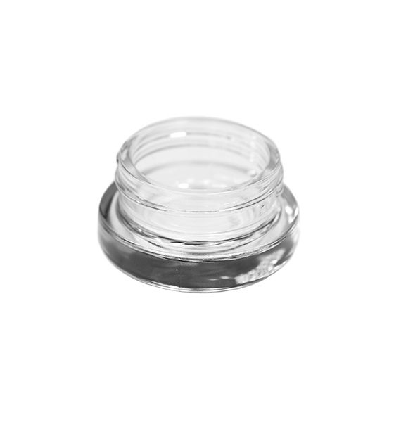 Photo of clear base 9ML glass child resistant concentrate container