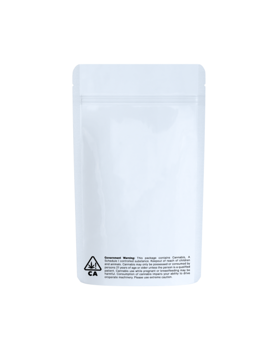 White/clear CA code bags for 1/4 oz