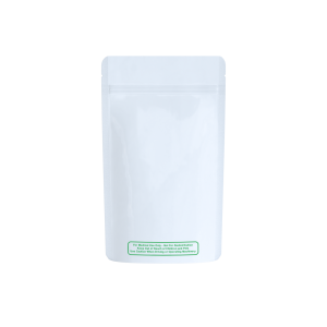 """Solid white """"best practice"""" labeled bags for 1/4 oz"""