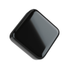 9ML square child resistant glossy black push and turn lid